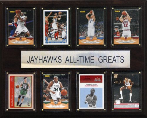 (NCAA Basketball Kansas Jayhawks All-Time Greats Plaque)