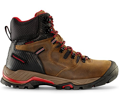 "Maelstrom Men's Zion 6"" Earth Brown Waterproof Composite Toe Work Boots for Work Industrial Construction Utility Outdoors - Comfortable Lightweight Boots - 1 Year Manufacturer's Warranty, Size 8W"