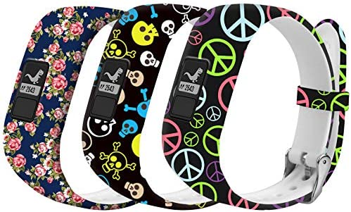 Replacement Bands Compatible for Garmin Vivofit 3 BandsSilicone Sport Replacement Strap Wristband for Garmin Vivofit JR Bands/Vivofit 3/JR 2 SmartwatchMetal Secure Clasp for Girls Boys Kids