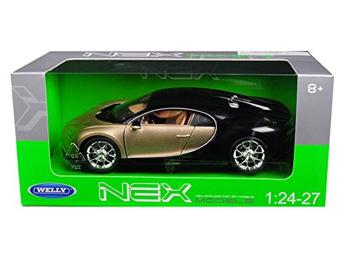 Welly 24077GLD/BK Bugatti Chiron Gold / Black 1/24 - 1/27 Diecast Model - Gold Diecast Car