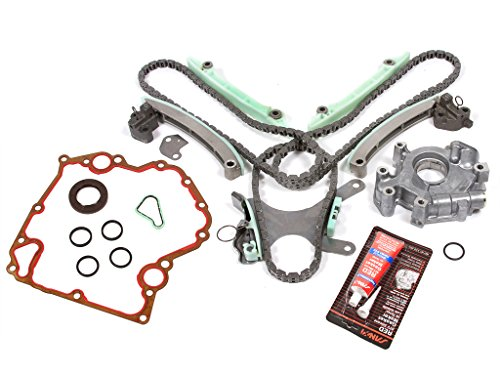 Evergreen TKTCS5047NGOP Fits 99-08 Dodge Jeep Mitsubishi 4.7 SOHC 16V VIN J, N, P Timing Chain Kit w/o Gears Timing Cover Gaskets Oil Pump - Oil Pump Cover