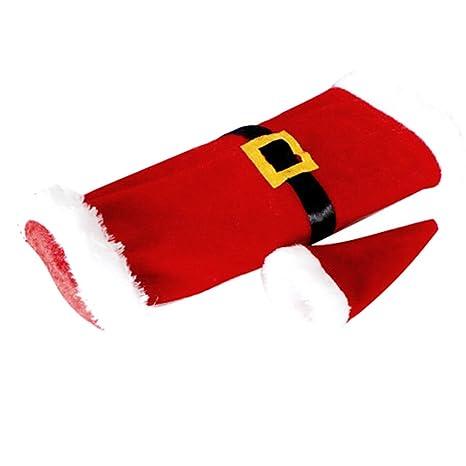 Bluelans® con bottiglia di vino borsa regalo Natale decorazione Babbo  Natale Abbigliamento Cappello da Babbo 216be6a9b76b
