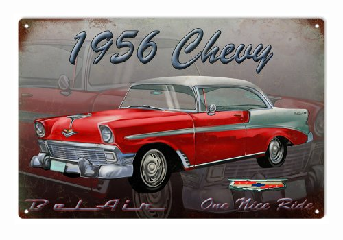 1956 Chevy Hot Rod Reproduction Sign Garage ()