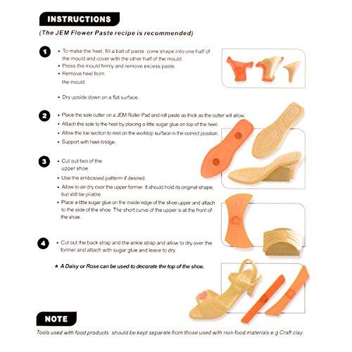CLE DE TOUS - Kit molde cortador zapato de mujer Moldes para fondant (9 piezas): Amazon.es: Hogar