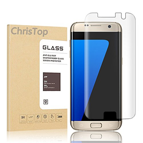 Chris Top Galaxy S7 Edge Screen Protector, [Full Coverage][Case Friendly][Bubble-Free][Anti-Scratch][No Lifted Edges] Wet Applied HD Clear Film Screen Protector for Samsung Galaxy S7 Edge