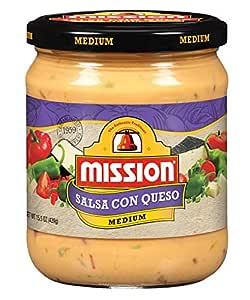 Mission Foods Salsa Con Queso, 15.5 Oz