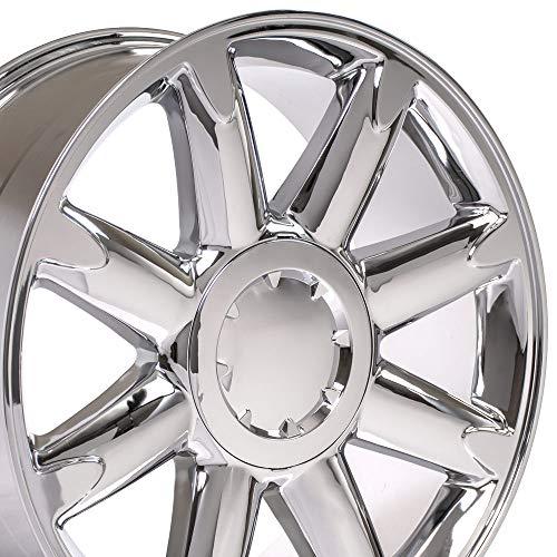 OE Wheels 20 Inch Fits Chevy Silverado Tahoe GMC Sierra Yukon Cadillac Escalade CV85 Chrome 20x8.5 Rim Hollander 5304 (2010 Rims Gmc)