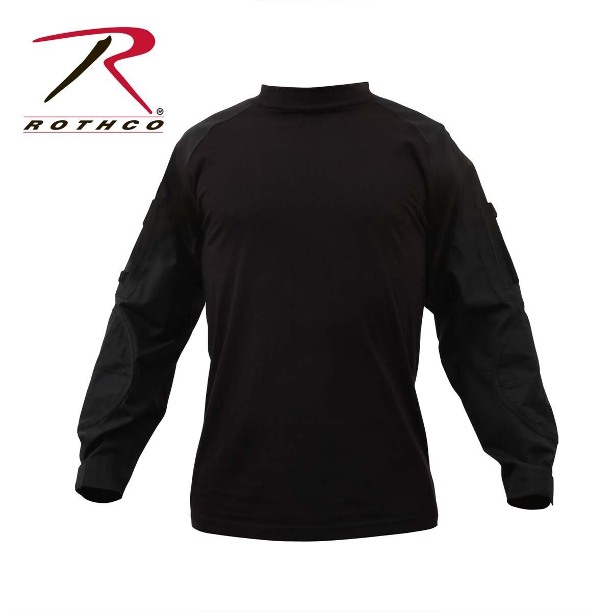 ロスコ ミリタリー コンバットシャツ ブラック ROTHCO MILITARY COMBAT SHIRT - BLACK 90010 B00409P68I 4L|ブラック ブラック 4L