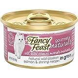 Purina Fancy Feast Gourmet Naturals Grain Free Wild Alaskan Salmon & Shrimp Recipe in Gravy Adult Wet Cat Food - (12) 3 oz. Cans