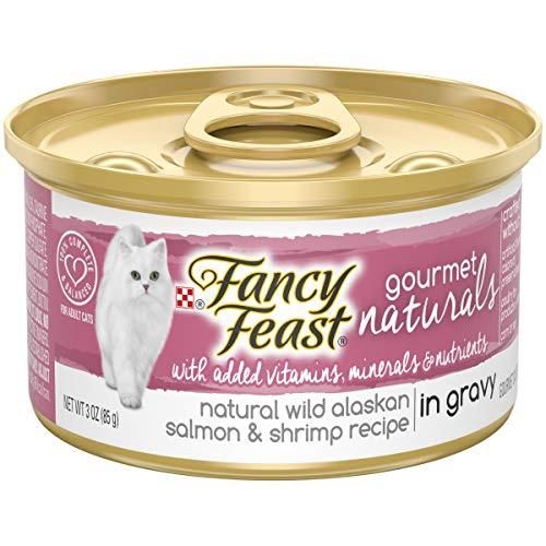 Purina Fancy Feast Natural Wet Cat Food; Gourmet Naturals Wild Alaskan Salmon & Shrimp in Gravy - 3 oz. Can ()