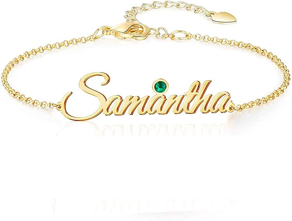 Personalized Name Bracelet or Anklet Bracelet Custom Made with Any Names for Women Girls Custom Name Charm Jewelry Gift