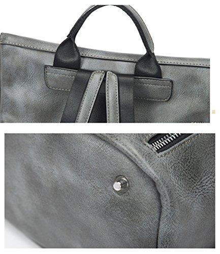 Ghlee - Bolso mochila  de Material Sintético para mujer Azul