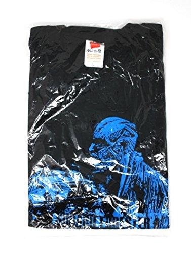 進撃の巨人 Tシャツ size:L・ブラック/ブルー・SUBARU FORESTER AT TACK ON TITAN