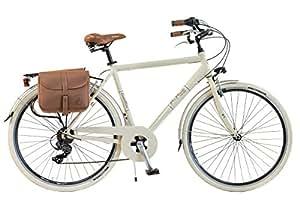Via Veneto By Canellini Bicicleta Bici Citybike CTB Hombre Vintage Retro Via Veneto Aluminio (Crema, 54)