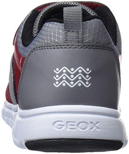 Geox J Xunday B, Zapatillas Para Niños Rojo (Red/grey)