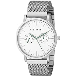 Ted Baker Men's TE3037 Smart Casual Silver Case Multi-Function Mesh Strap Watch