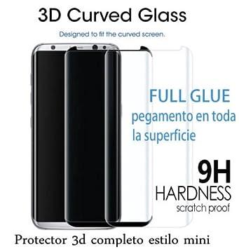 60c49d65425 Protector Cristal Templado Completo curvo 3D FULL GLUE ( pegamento completo  )para SAMSUNG S8 Plus
