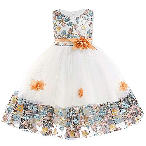 (Baby Princess Dress for Girl Elegant Birthday Party Dress Girl Dress Baby Girl Clothes,As Picture7,5)