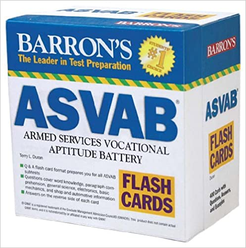 Barron S Asvab Flash Cards Terry L Duran 9780764197833