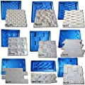 Digital Art Rio 27 plastic with rubber sheets molds for plaster 3d walls