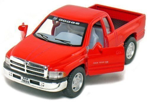 - New 1:44 KINSMART DISPLAY - RED COLOR DODGE RAM PICKUP TRUCK Diecast Model Car By KINSMART
