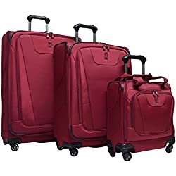"Travelpro Maxlite 4 3-Piece Luggage Set: 29"", 25"" Expandable Spinners and Easy Carry On Under Seat Bag (Merlot)"