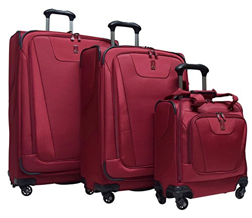 Travelpro Maxlite 4 3-Piece Luggage Set: 29'', 25'' Expandable Spinners and Easy Carry On Under Seat Bag (Merlot) by Travelpro