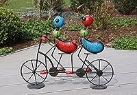 Gartenfigur Ameisen auf Tandem, Lustige Ameisen Gartenfiguren