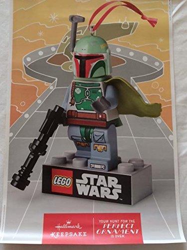 (Star Wars Lego Hallmark Boba Fett - D/S 11.5X18 Original Promo Poster Sdcc 2014 Rolled)