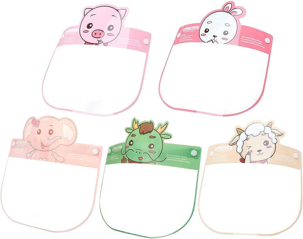KESYOO 5PCS Transparent Mouth Cover Face Cover Visor Hat Anti-Splash Dustproof Sun Shield for Boys Girls Random Style