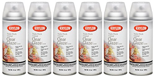 Krylon I00500A00 Triple Thick Clear Glaze Artist Spray 12-Ounce (6) (Clear Krylon Acrylic)