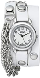 XOXO Women's XO5622  White Band with Chains Accent Double Wrap Watch