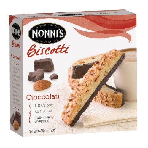 Crackers Chocolate Dipped (Nonni's Biscotti Cioccolati, 6.88-Ounce Boxes (Pack of 6))