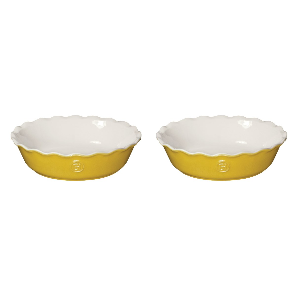 Emile Henry Leaves Ceramic 5.5 Inch Mini Pie Dish, Set of 2 by Emile Henry