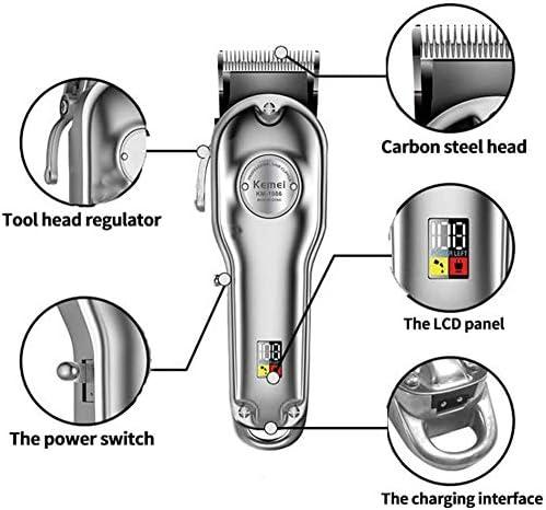 Hair Clipper Rechargeable Cutter Head Adjustable LCD Display Carbon Steel Cutter Head Hair Clipper  67pkz