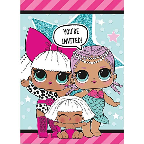 LOL Surprise Party Invitations, 8 Ct.