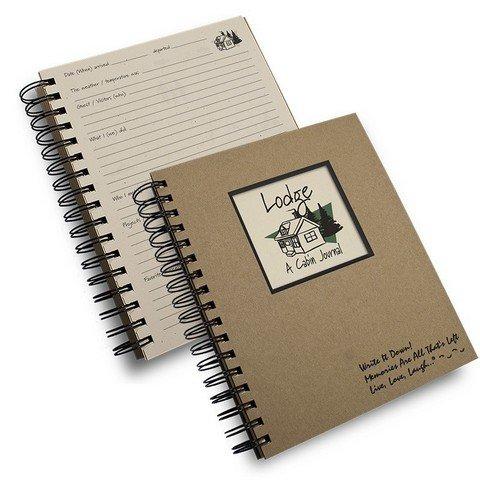 "Lodge, a Cabin Journal- Kraft Hardcover Journal, 7.5"" X 9"""
