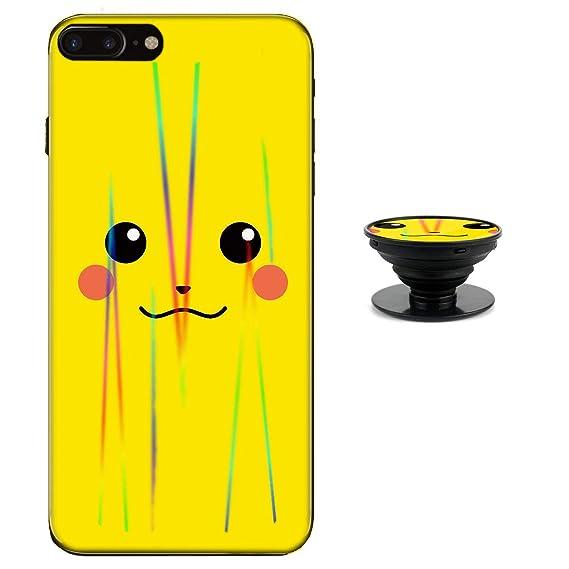 wholesale dealer 28d77 12515 Pikachu Case for iPhone 8 Plus 7 Plus Protective Case Aurora Color Soft TPU  Compatible iPhone 8 Plus Cover with Phone Holder Bracket