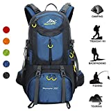 Huwaijianfeng Hiking Backpack, 50L Waterproof Backpack Outdoor Sport Daypack with a Rain Cover for Climbing Mountaineering Fishing Travel Cycling