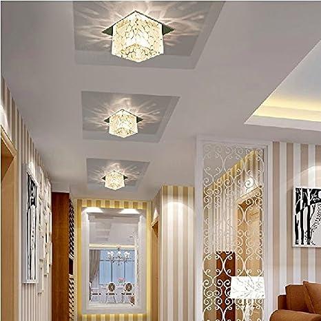 Lámpara de pasillo pasillo cuadrado cristal lámparas lámparas ...