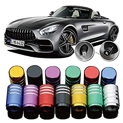 Haiy 4Pcs Universal Luxury for Mazda Metal Car Vehicle Wheel Tire Valve Stem Caps Dust Covers Auto Motorcycle Airtight Stem Bicycle Air Caps Styling(Black): Automotive