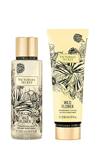 Victoria's Secret Fragrance Body Lotion & Body Mist Set (WILD FLOWER)