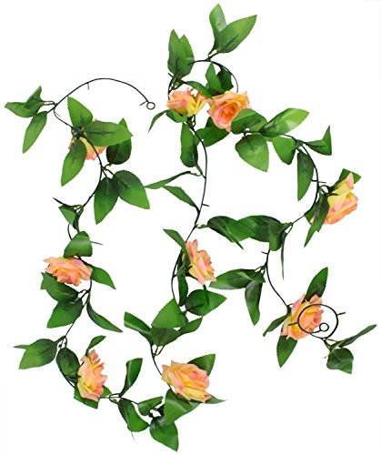 Artificial Silk Rose Flower Ivy Vine Leaf Garland Wedding Party Home Decor (style.1) (Star Vine Leaf)