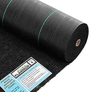 6x250ft Professional Woven Landscape Fabric-5oz Geotextile Commercial Grade Garden Liner Roll – Weedblock for Garden…