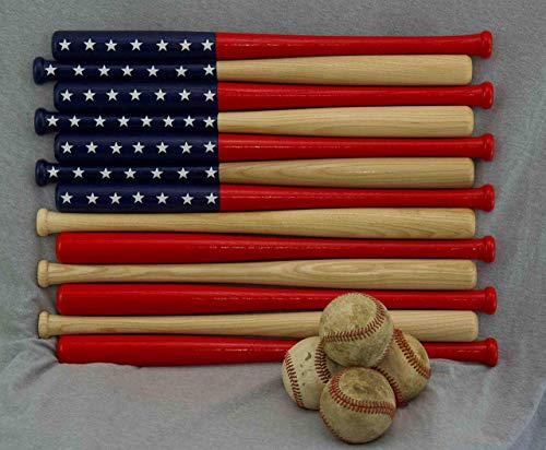 - Baseball bat American Flag made out of 18 inch bats