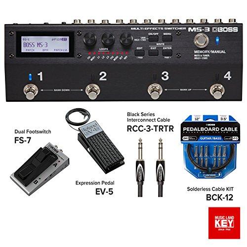 [해외] BOSS MS-3 Multi Effects Switcher 순정 옵션 세트 [MUSICLAND KEY오리지널 세트] (풀 옵션 세트)