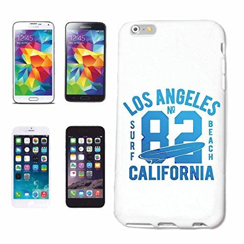 """cas de téléphone iPhone 6S """"LOS ANGELES CALIFORNIA SURF BEACH SURFBOARDS WAVES LONGBOARD DE SURF Beginner Shop"""" Hard Case Cover Téléphone Covers Smart Cover pour Apple iPhone en blanc"""