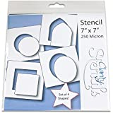 Basic Shapes Stencils (Set of 4) by Claritystamp