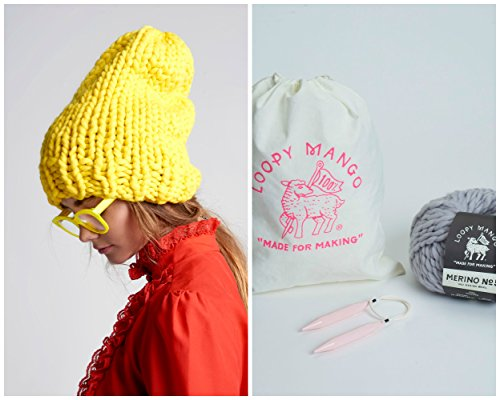 Loopy Mango DIY Kit - Slouchy Beanie (Butter) by Loopy Mango