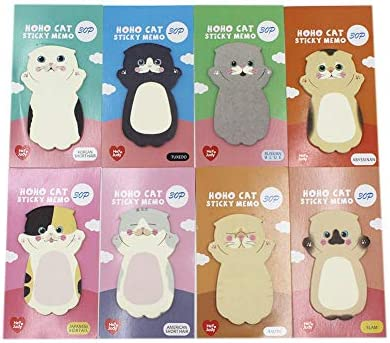 Amazon Com Cute Cartoon Cat Sticky Notes Kitten Self Stick Note